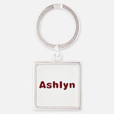 Ashlyn Santa Fur Square Keychain