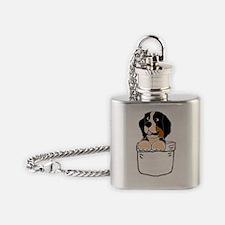 Cute Bernese mountain dog Flask Necklace