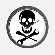 Mechanic Pirate Wall Clock