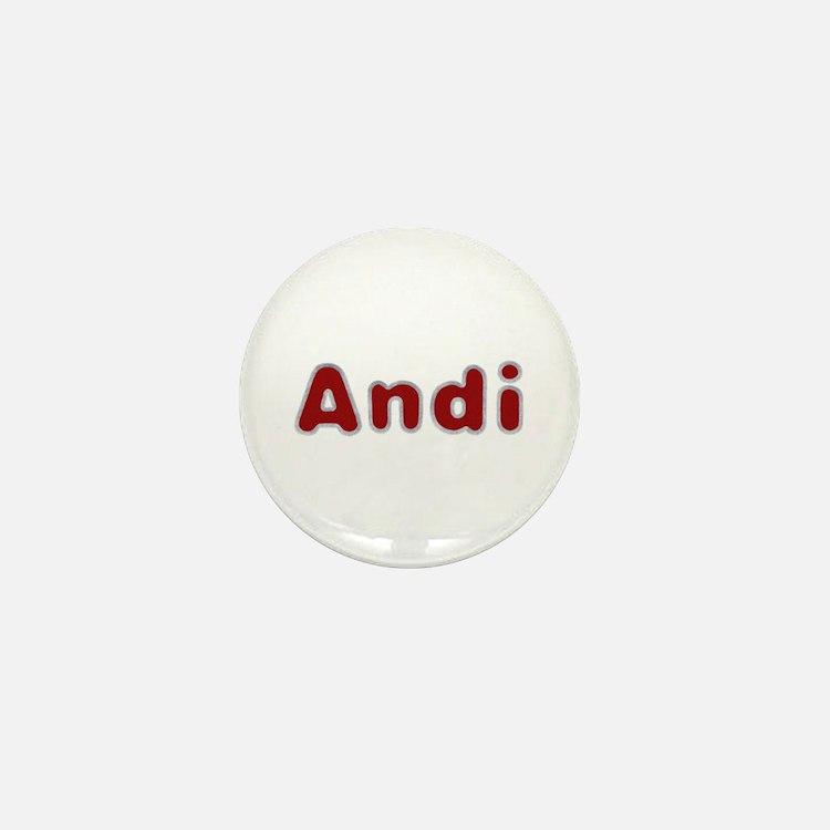 Andi Santa Fur Mini Button