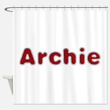 Archie Santa Fur Shower Curtain