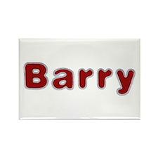 Barry Santa Fur Rectangle Magnet