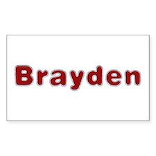 Brayden Santa Fur Rectangle Decal
