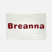 Breanna Santa Fur Rectangle Magnet
