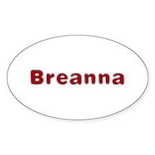 Breanna Santa Fur Oval Decal