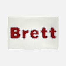 Brett Santa Fur Rectangle Magnet