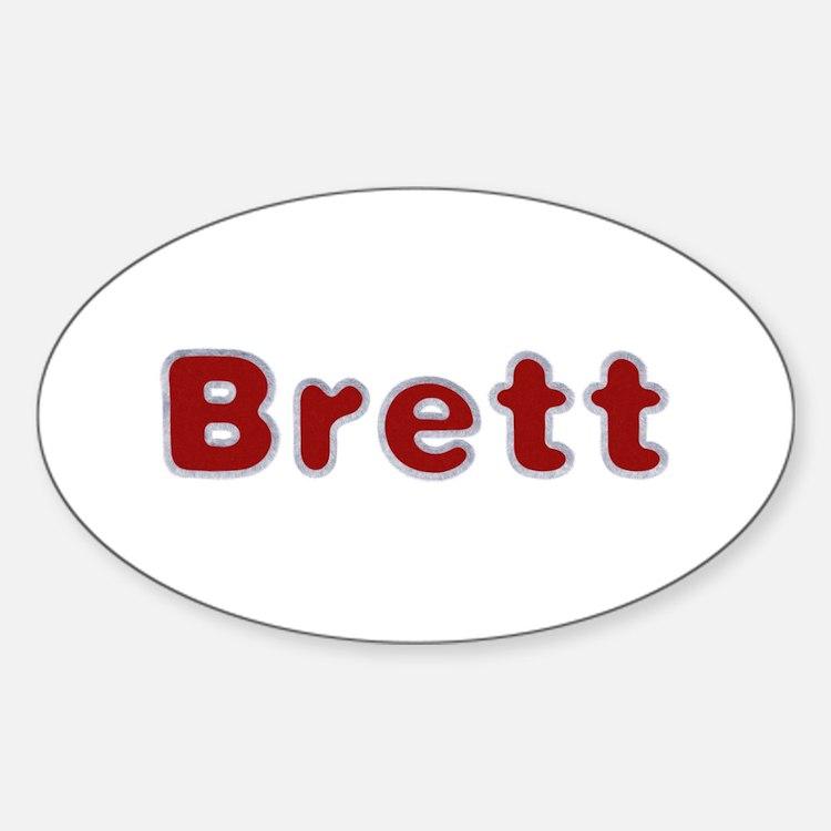 Brett Santa Fur Oval Decal