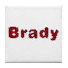 Brady Santa Fur Tile Coaster