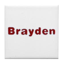 Brayden Santa Fur Tile Coaster