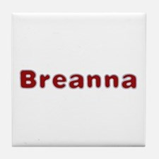 Breanna Santa Fur Tile Coaster