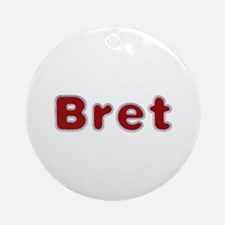Bret Santa Fur Round Ornament