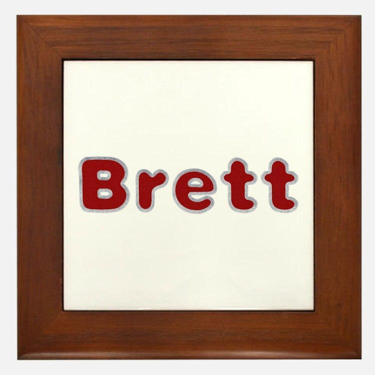 Brett Santa Fur Framed Tile