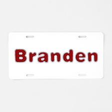 Branden Santa Fur Aluminum License Plate