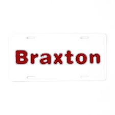 Braxton Santa Fur Aluminum License Plate