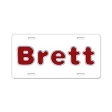 Brett Santa Fur Aluminum License Plate