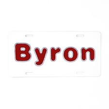 Byron Santa Fur Aluminum License Plate