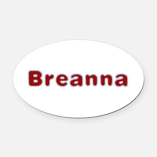 Breanna Santa Fur Oval Car Magnet