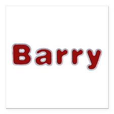 Barry Santa Fur Square Car Magnet