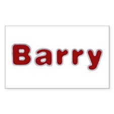 Barry Santa Fur Rectangle Decal