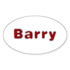 Barry Santa Fur Oval Sticker 10 Pack