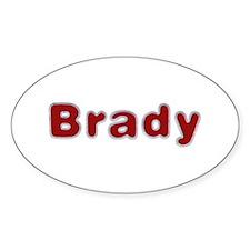 Brady Santa Fur Oval Sticker 10 Pack