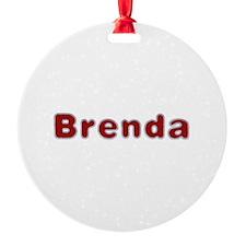 Brenda Santa Fur Ornament