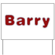 Barry Santa Fur Yard Sign