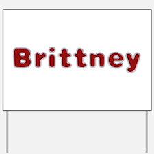 Brittney Santa Fur Yard Sign