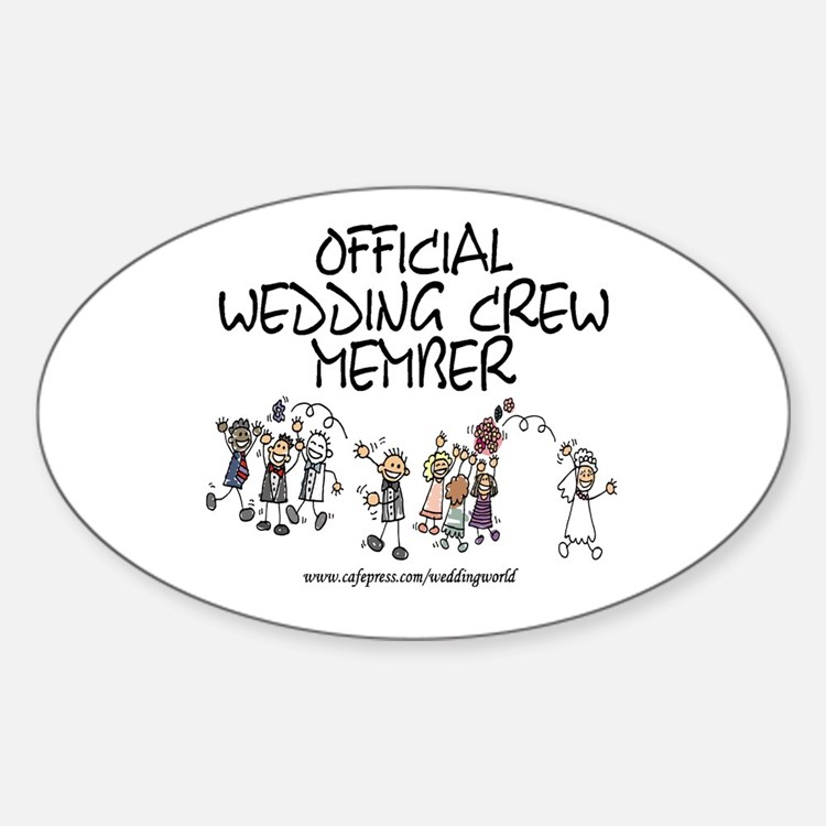 Wedding Crew Member Oval Decal