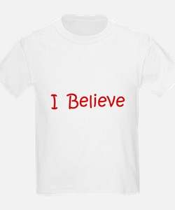 Red Believe Kids T-Shirt