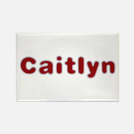 Caitlyn Santa Fur Rectangle Magnet