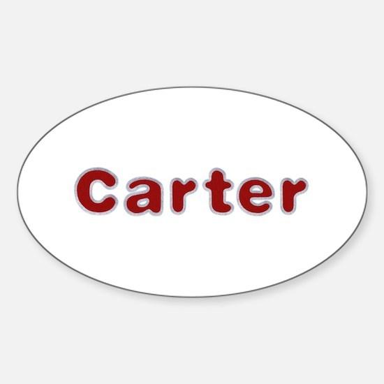 Carter Santa Fur Oval Decal