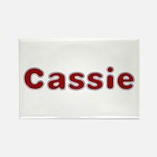 Cassie Santa Fur Rectangle Magnet