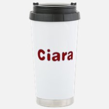 Ciara Santa Fur Stainless Steel Travel Mug