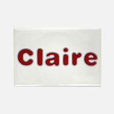 Claire Santa Fur Rectangle Magnet