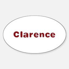 Clarence Santa Fur Oval Decal
