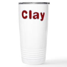 Clay Santa Fur Travel Mug