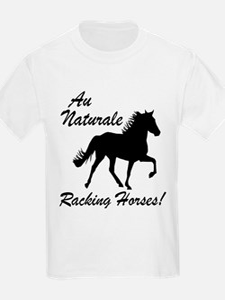 Au Naturale - Racking Horses! Kids T-Shirt