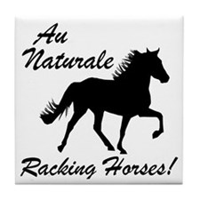 Au Naturale - Racking Horses! Tile Coaster