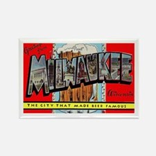 Milwaukee Wisconsin Greetings Rectangle Magnet