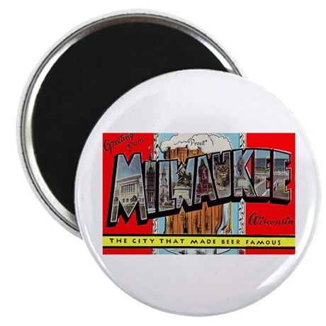 Milwaukee Wisconsin Greetings Magnet