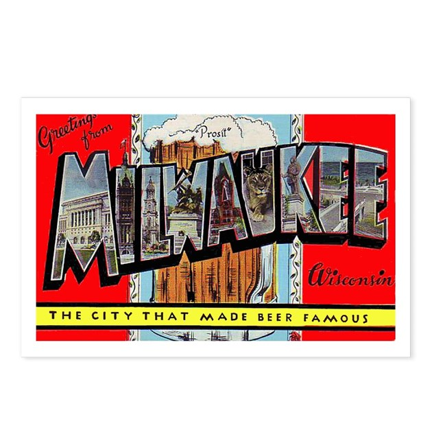 Milwaukee Wisconsin Greetings Postcards (Package O By W2arts