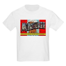 Milwaukee Wisconsin Greetings (Front) Kids T-Shirt