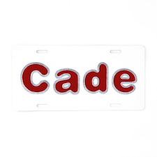 Cade Santa Fur Aluminum License Plate