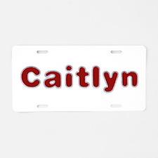 Caitlyn Santa Fur Aluminum License Plate