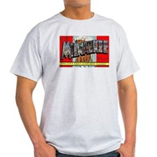 Milwaukee Wisconsin Greetings Ash Grey T-Shirt