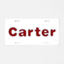 Carter Santa Fur Aluminum License Plate