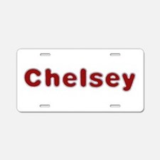 Chelsey Santa Fur Aluminum License Plate