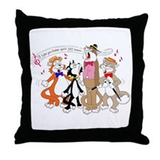 CAT'S QUARTET Throw Pillow