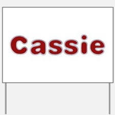 Cassie Santa Fur Yard Sign